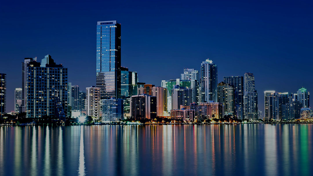 Background image of Miami skyline